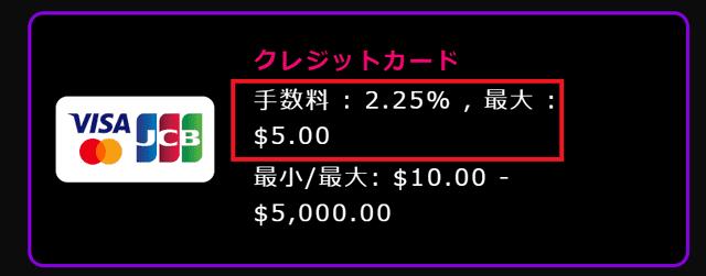 インターカジノの手数料